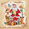 Салфетки за декупаж - Коледен хор - Пакет от 20 броя -