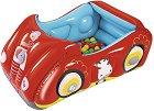 Надуваема кола - Комплект с 25 цветни топки за игра -