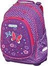 Ергономична ученическа раница - Bliss: Purple Butterfly -