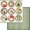 Хартия за скрапбукинг - Коледни мотиви - Размери 30.5 х 30.5 cm -