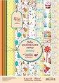 Картони за скрапбукинг - Рожден ден - Комплект от 8 листа с формат A4 -