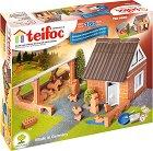 """Ферма с фигурки - Детски сглобяем модел от истински тухлички от серията """"Teifoc: Classic"""" -"""