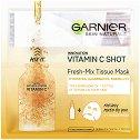 """Garnier Skin Naturals Vitamin C Shot Fresh-Mix Tissue Mask - Енергизираща и озаряваща маска за лице с витамин C от серията """"Skin Naturals"""" -"""