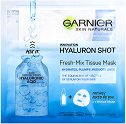 "Garnier Skin Naturals Hyaluron Shot Fresh-Mix Tissue Mask - Изглаждаща маска за лице с хиалурон от серията ""Skin Naturals"" -"