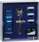 Подаръчен комплект за мъже - Gillette Limited Edition - Самобръсначка и гел за бръснене -