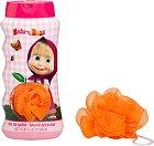 Детски комплект от душ гел и гъба за баня - Masha & The Bear -