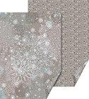 Двустранен картон за скрапбукинг - Сива Коледа - Размери 50 х 70 cm -