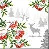 Салфетки за декупаж - Коледа в гората - Пакет от 20 броя -