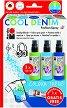 Спрей за текстил - Cool Denim - Комплект от 3 цвята и контур -