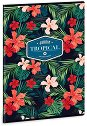 Ученическа тетрадка - Tropical Wildblume : Формат А4 с широки редове - 40 листа -