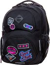 Ученическа раница - Dart: Badges Black L -