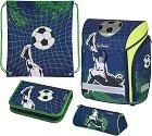 Ученическа раница - Midi: Kick It - Комплект с 2 несесера и спортна торба -