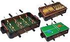 Джага, тенис на маса, шах, дама и табла - Комплект игри на маса 5 в 1 -