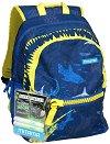 """Ученическа раница - Shark - Комплект с 2 броя неоново лепило за декориране : От серията """"Plus Boy"""" -"""