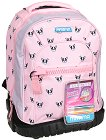 """Ученическа раница с колелца - Pink Dog - Комплект с 2 броя брокатено лепило за декориране : От серията """"Trolley Run"""" -"""