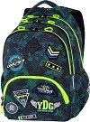 Ученическа раница - Bentley: Badges Boys Green -