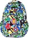 Ученическа раница с LED светлини - Spark L: Avengers Badges -