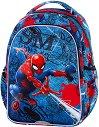 Ученическа раница с LED светлини - Joy S: Spiderman Black -