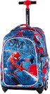 Ученическа раница с колелца - Jack: Spiderman Denim -