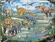 Динозаври - Пъзел в картонена подложка -