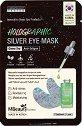 MBeauty Holographic Silver Eye Mask - Озаряваща маска за околоочен контур със зелен чай -