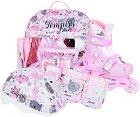 Детски регулируеми ролери - Baby Kitty - Комплект с протектори, каска и чанта за съхранение -