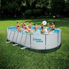 Овален сглобяем басейн - Summer Waves Active Frame - Комплект с филтърна помпа, стълба и аксесоари -