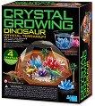 Направи си сам - Кристален терариум с динозаври - Детски образователен комплект -