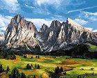 Рисуване по номера с акрилни бои - В планината - Комплект за картина с размери 50 x 40 cm -