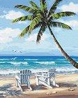 Рисуване по номера с акрилни бои - Морски дни - Комплект за картина с размери 40 x 50 cm -