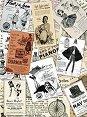 Декупажна хартия - Винтидж етикети - Формат A4 -