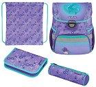 Ученическа раница - Loop Plus: Dolphins - Комплект със спортна торба и 2 несесера -
