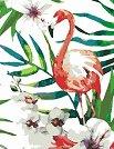 Рисуване по номера с акрилни бои - Фламинго - Комплект за картина с размери 35 x 45 cm -