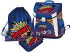 Ученическа раница - Supercomics Bazinga - В комплект със спортна торба и несесер -