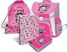Ученическа раница - Lollipop: Raccoon Sweetie - В комплект със спортна торба, несесер и папка с ластик формат A4 -