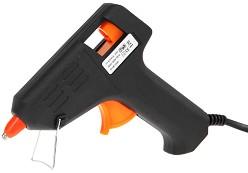 Пистолет за топло лепене + 2 силиконови пръчки -
