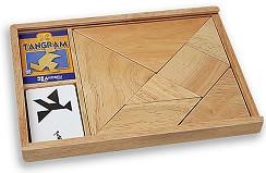 Танграм - Занимателна дървена игра -