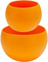Силиконови съдове - Squishy Bowls 2 в 1 - Комплект от 2 части -