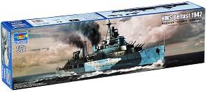 Военен кораб - H.M.S. Belfast 1942 - Сглобяем модел -