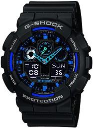 """Часовник Casio - G-Shock GA-100-1A2ER - От серията """"G-Shock"""" -"""