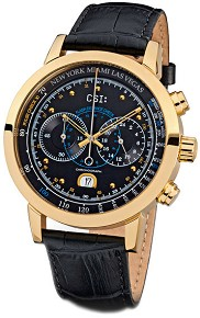 "Часовник KronSegler - CSI Gents Chronograph KS 787 Gold Black - От серията ""Crime Scene Investigation"" -"