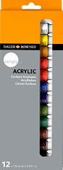 """Акрилни бои - Комплект от 12 и 24 цвята от серията """"Simply"""" -"""