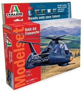 Военен хеликоптер - RAH-66 Comanche - Сглобяем авиомодел - комплект с лепило и бои -