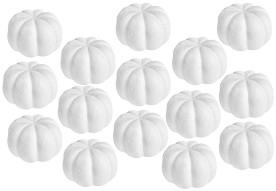 Фигури за декорация от стирофом - Тикви - Комплект от 15 броя с диаметър 60 mm -