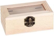 Дървена кутия със стъклен капак - Предмет за декориране -