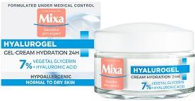 Mixa Hyalurogel Light Intensive Hydration Cream-Gel - Хидратиращ гел-крем за лице с хиалуронова киселина за чувствителна и нормална кожа -