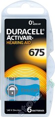 Батерия Duracell Activeair 675 - Цинк-Въздушна 1.45V - 6 броя -