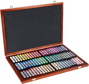 """Сухи пастели в дървена кутия  - Artists' Soft Pastels - Комплект от 70 цвята от серията """"Gallery"""" -"""