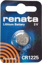 Бутонна батерия CR1225 - Литиева 3V - 1 брой -