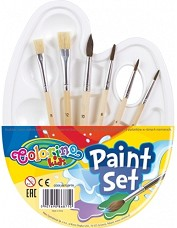 Палитра с четки - Paint set - Комплект от 7 части -